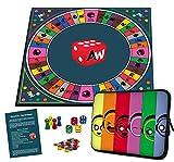 Alleswisser - Das Brettspiel, interaktives Quiz-, Wissens- und Familienspiel mit App für iOS und Android mit Tasche im Familie-Layout
