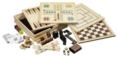 Holz Spielesammlung mit 10 Spielemöglichkeiten