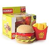 Yuciya Simulation Hamburger Pommes Frites, Kinder Simulation Lebensmittel Spielzeug so Tun, als Spielen Küche Spielzeug Lernspielzeug Geschenk