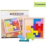 Blaward Holz Puzzle Denksportaufgaben Spielzeug für Kinder Holz Puzzle Box Gehirn Spiele Holz Tangram Puzzle Spielzeug Blöcke Kindertage