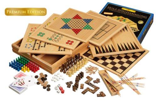 Große Holz Spielesammlung von Philos