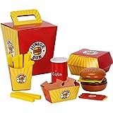Hamburger Spiel,spielen Essen So Tun Als Ob Spielen Spielen Spielzeug Holz Frites Eimer Burger So Tun Als Ob Spielen Spiel Für Kind Kinder Kinder Baby