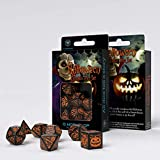 Halloween Dice Set Pumpkin Black & orange (7) Workshop Role Playing Brettspiele