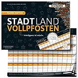 Stadt Land Vollpfosten - mit XXL Spielblock