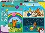 Schmidt Spiele Mouse TV Puzzle 56212, blau, Gute Freunde, 3x24 Teile