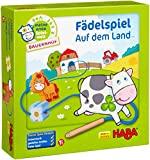 Haba 5580 - Meine erste Spielwelt Bauernhof Fädelspiel auf dem Land, liebevoll gestaltetes Lernspiel und Motorikspielzeug ab 18 Monaten, Holzspielzeug mit Bauernhofmotiven