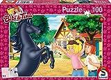 Schmidt Spiele 56078 Bibi und Tina, Der Wilde Hengst, 100 Teile Kinderpuzzle, bunt
